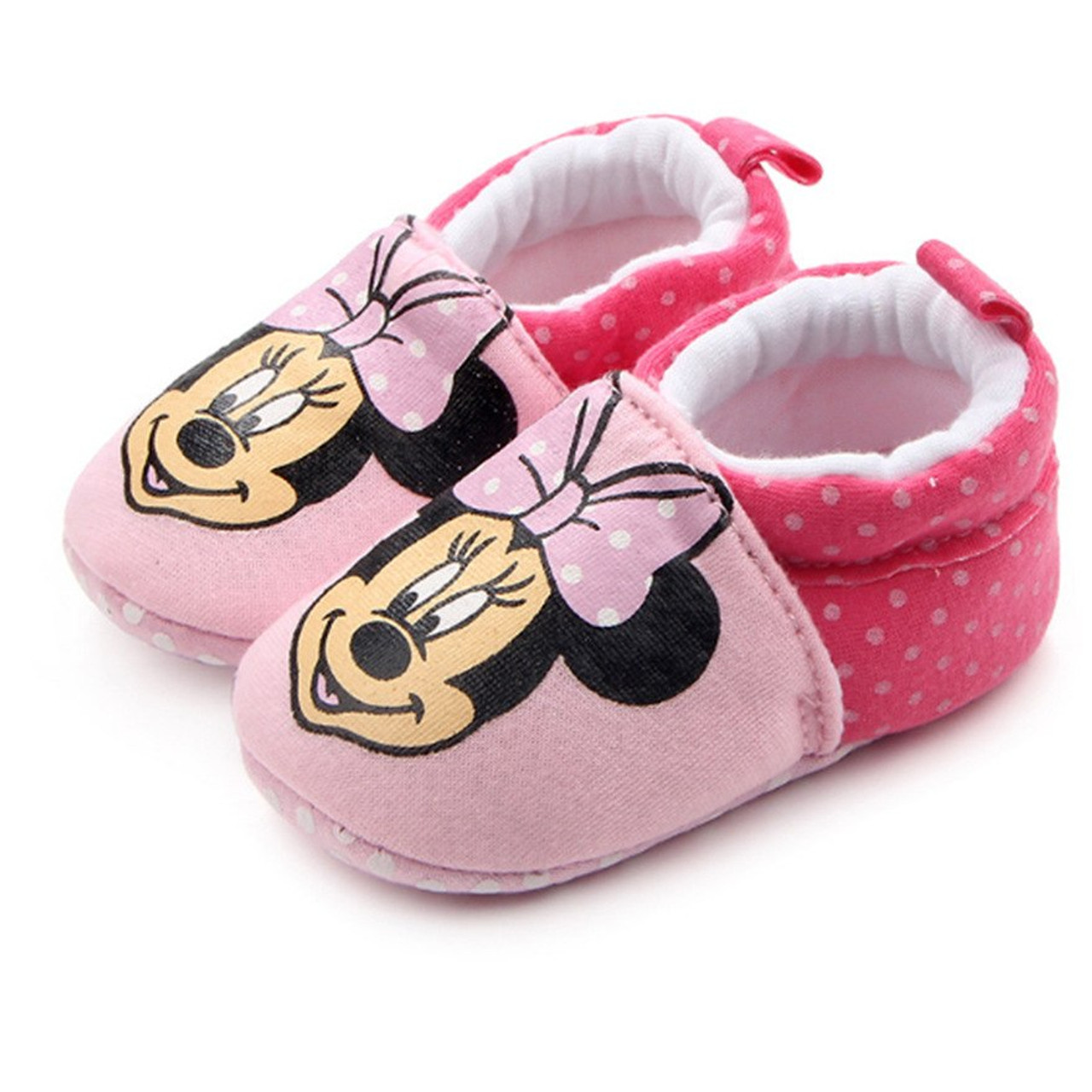 sélectionner pour officiel spécial chaussure bon service Baby Slippers Cartoon Mickey Minnie Family Baby Shoes Toddler Chaussure  Bebe Crib Shoes Baby First Walker Shoes
