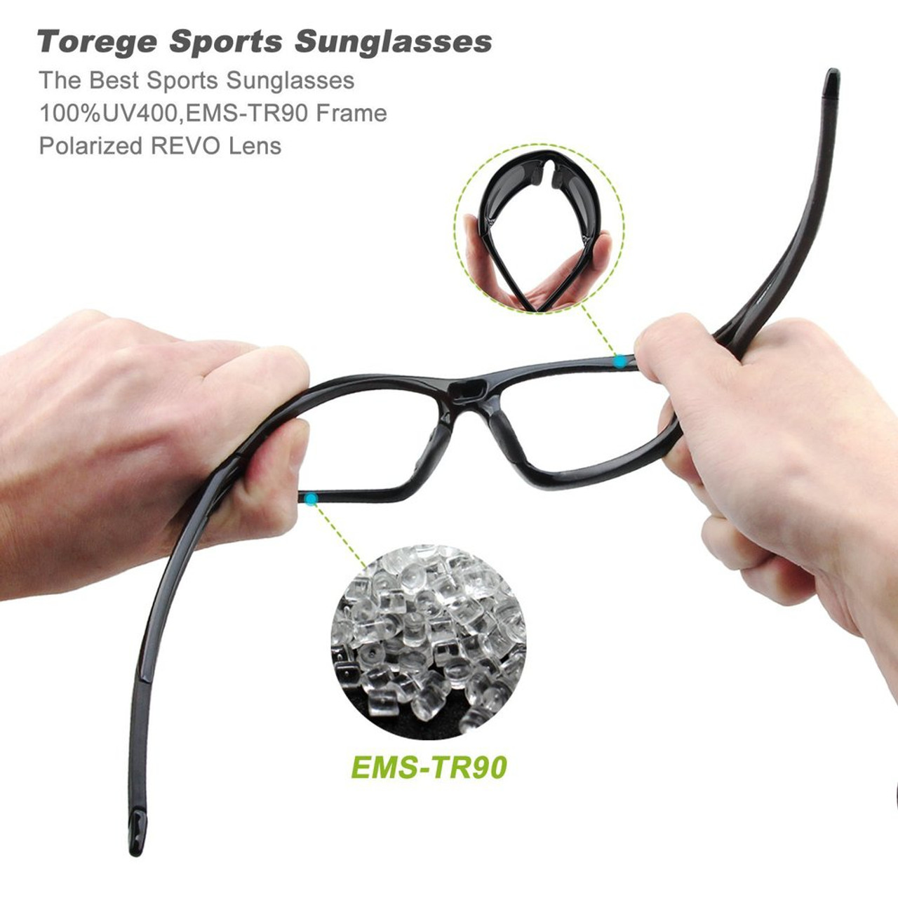 41d301ea39 ... TOREGE Men s Fashion Polarized Sunglasses For Driving Glasses TR90  Unbreakable Frame Eyewear Unisex 100% UV400 ...