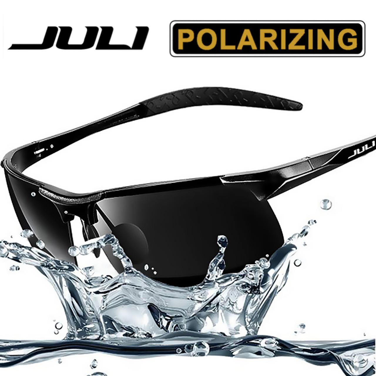 c7375960691af JULI Men s Sports Style Polarized Sunglasses For Men Travel Oculos Driving  Golf Unbreakable Alumin magnesium Metal ...