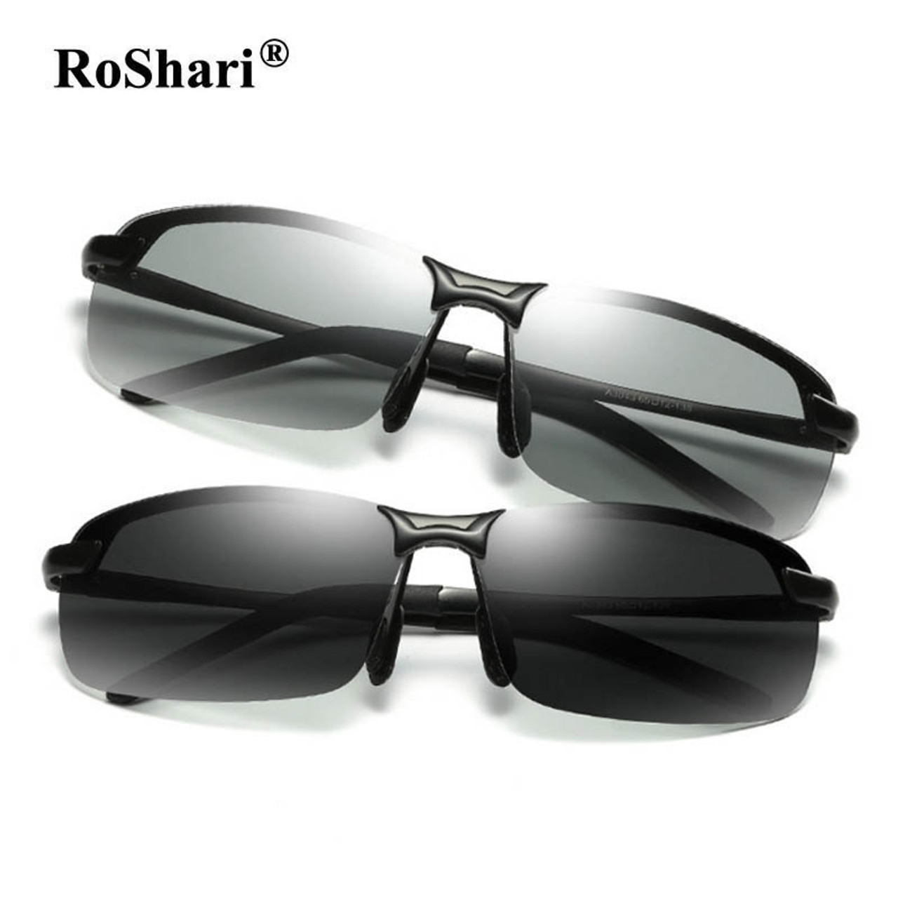 RoShari Driving Photochromic Sunglasses Men Polarized Chameleon  Discoloration Sun glasses for men oculos de sol masculino P3043 -  OnshopDeals.Com d85311ade4