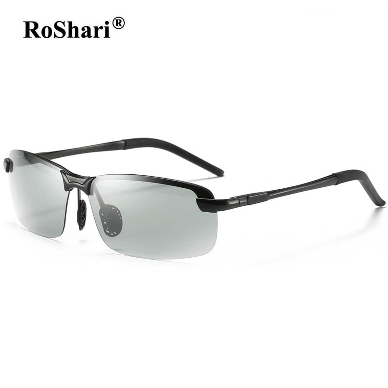 1e141ed24dc ... RoShari Driving Photochromic Sunglasses Men Polarized Chameleon  Discoloration Sun glasses for men oculos de sol masculino ...