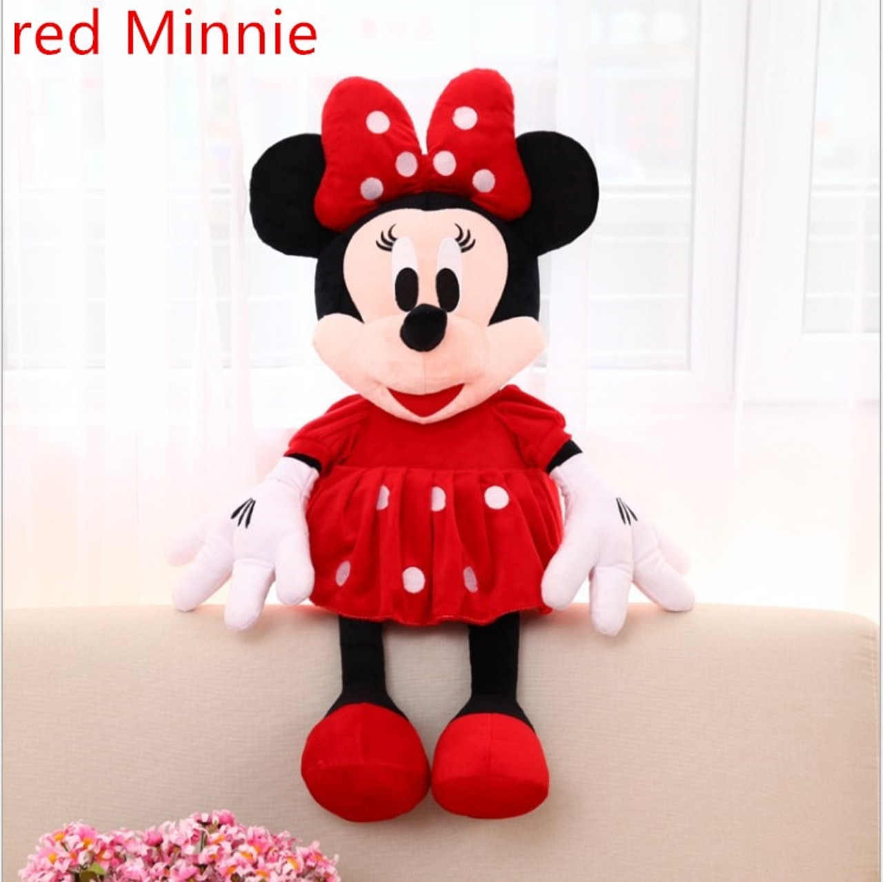cac48ec4f47 ... 46-100cm 3 Color Mice Mickey Mouse Minnie Mouse Stuffed Plush Toy Soft  Good Quality ...