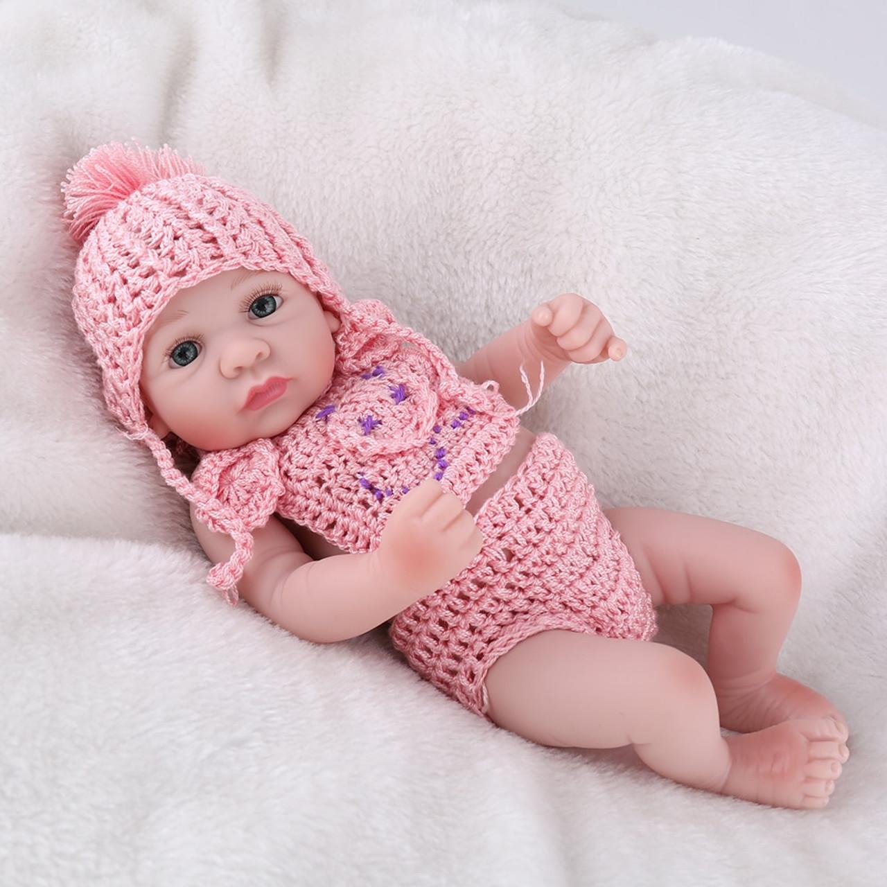 10/'/' REBORN BABY DOLL FULL BODY VINYL SILICONE GIRL NEWBORN TOLLDER TOYS DOLLS