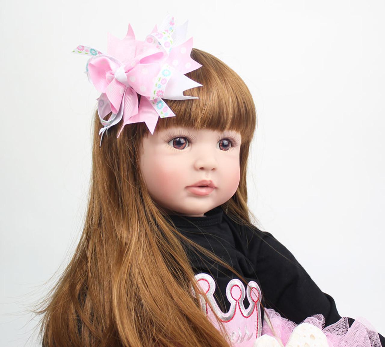e45212c49 ... 60cm Silicone Reborn Baby Doll Toys 24 inch Vinyl Princess Toddler  Babies Dolls Girls Birthday Gift ...