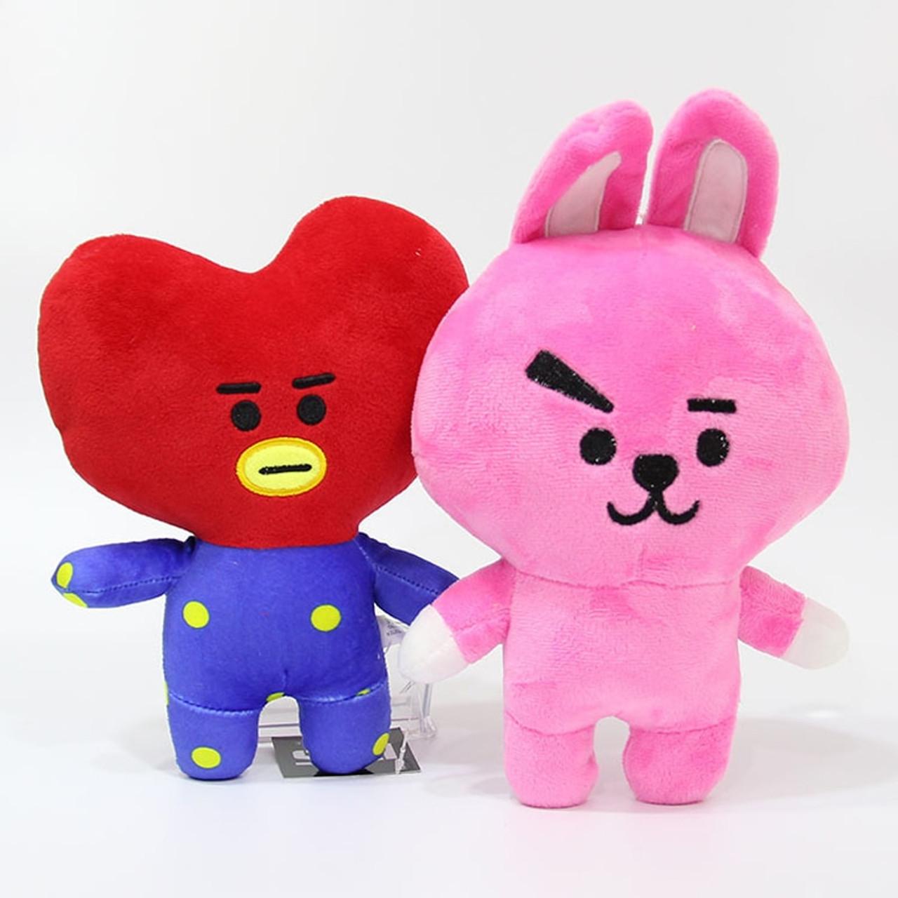 20cm Kpop Bangtan Boys BTS BT21 Plush Toys Doll Tata Van Cooky Chimmy Shooky Koya MANG Plush ...
