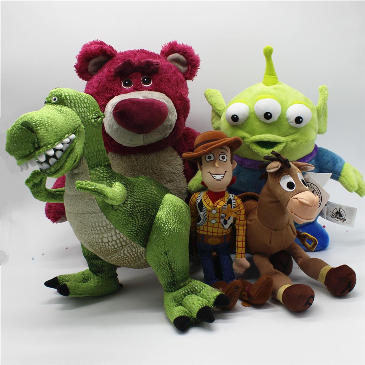 1pcs Original Toy Story Woody Lotso Strawberry Bear Bullseye Alien