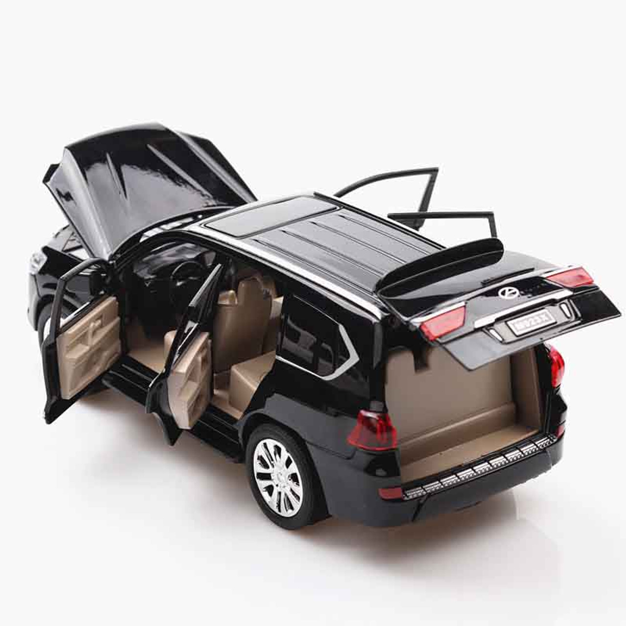 1:24 LX570 Alloy Metal Model Pull Back Toy Cars Light ...