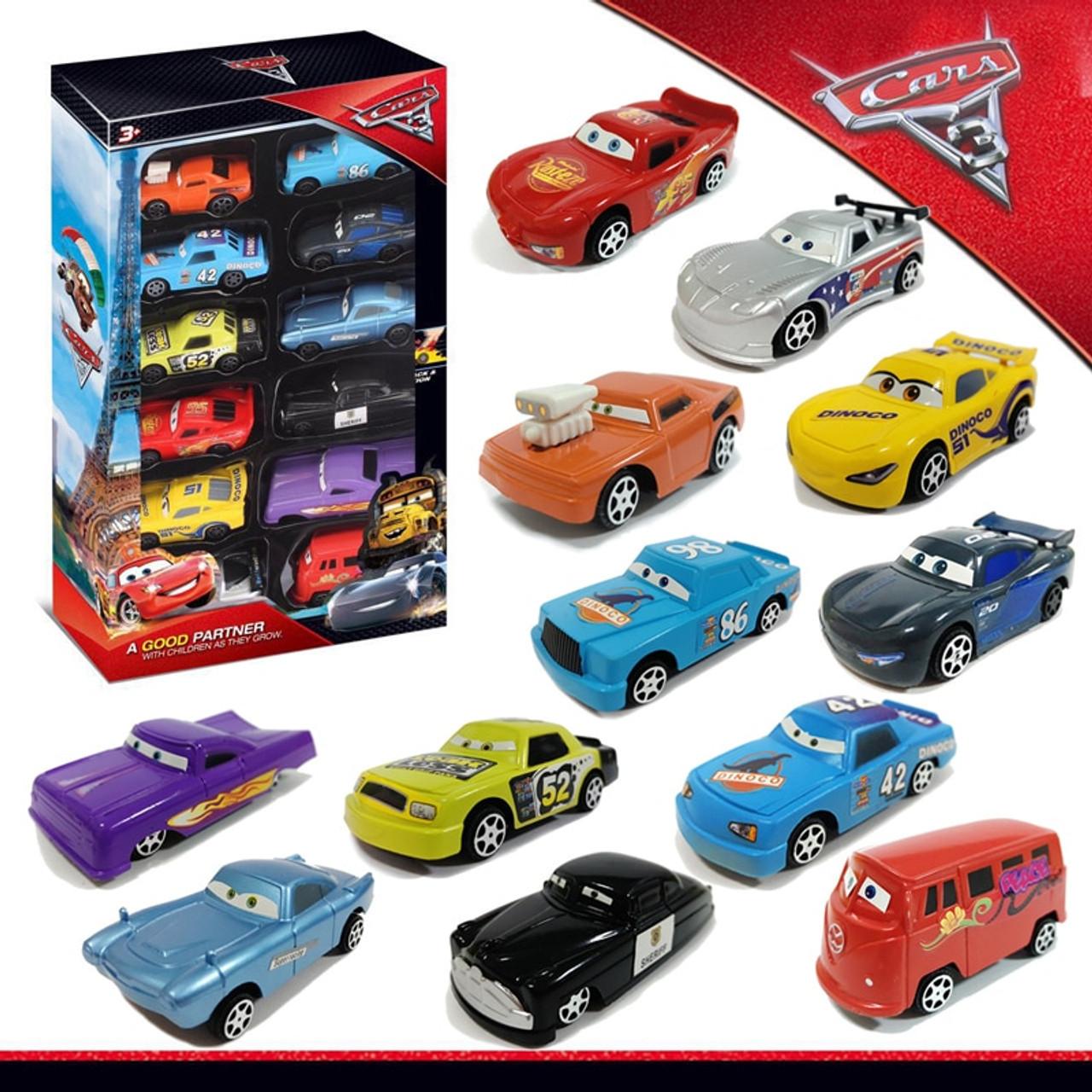 12 Piece Plastic Disney Pixar Cars 3 Model Car Toys Gift Box Set