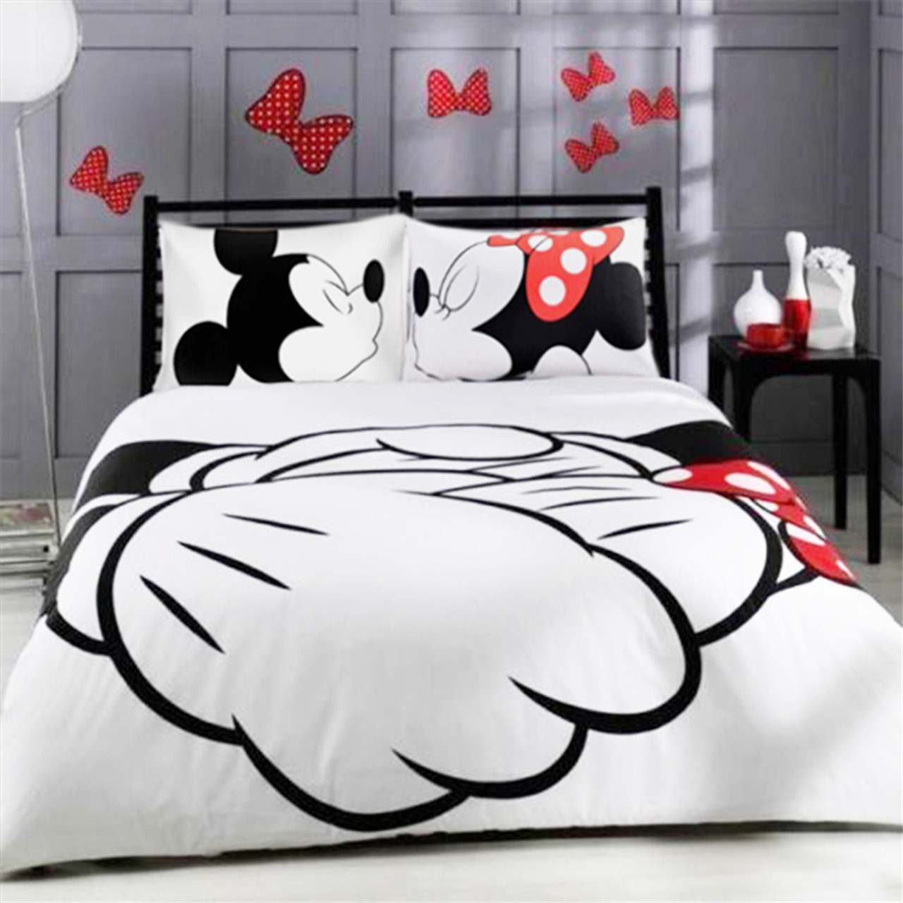 Image of: Mickey Minnie Mouse 3d Printed Bedding Duvet Covers Sets Girls Children S Bedroom Decoration Woven 400tc Twin Full Queen King Sz Onshopdeals Com