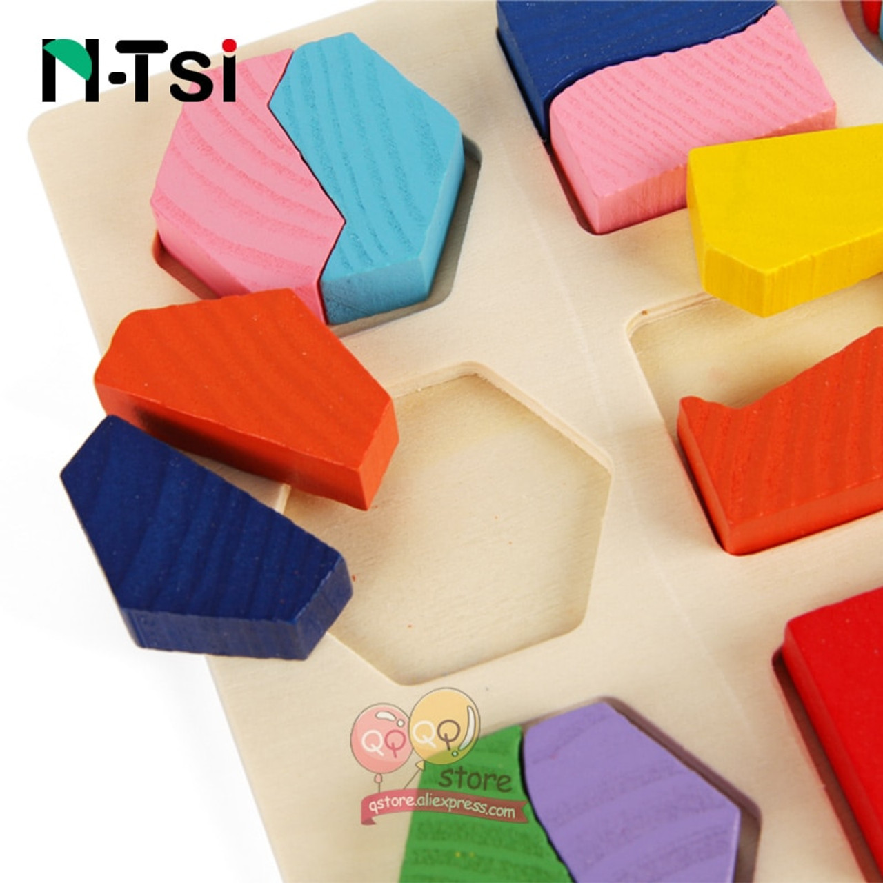 Home Wooden Geometric Shapes Sorting Maths Montessori Preschool Learning Educational Game Baby Toddler Toys For Children
