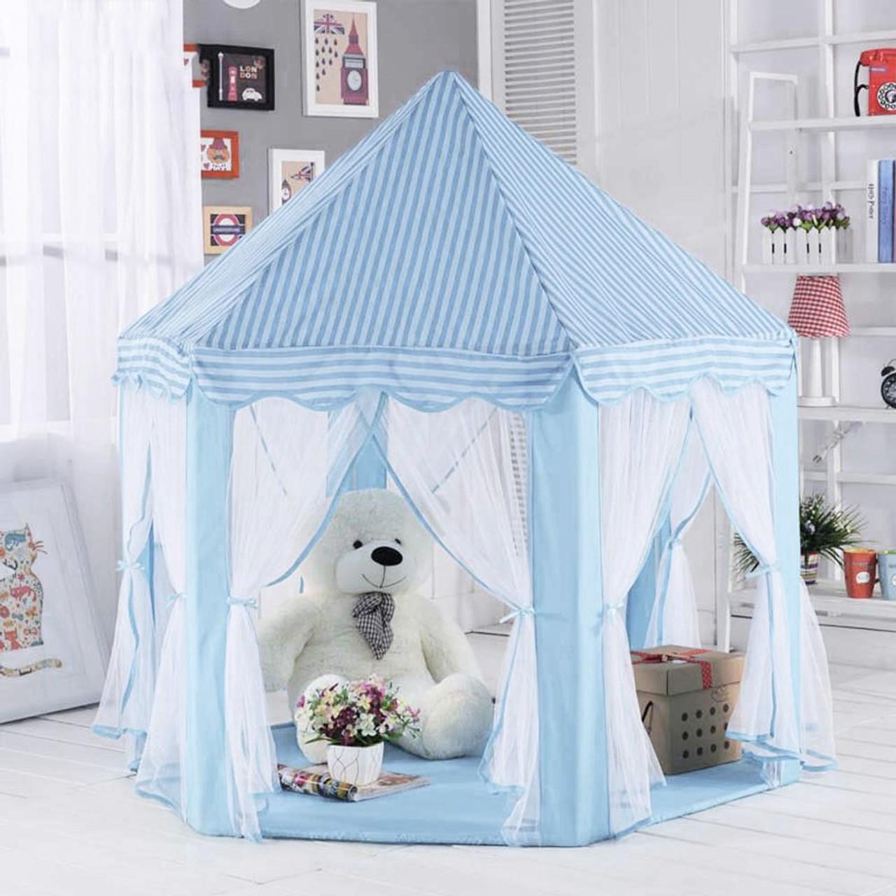 8135c274856e Girls Prince Castle Tents Children Princess Indoor Outdoor Garden Folding  Play Tent Lodge Kids Ocean Balls ...