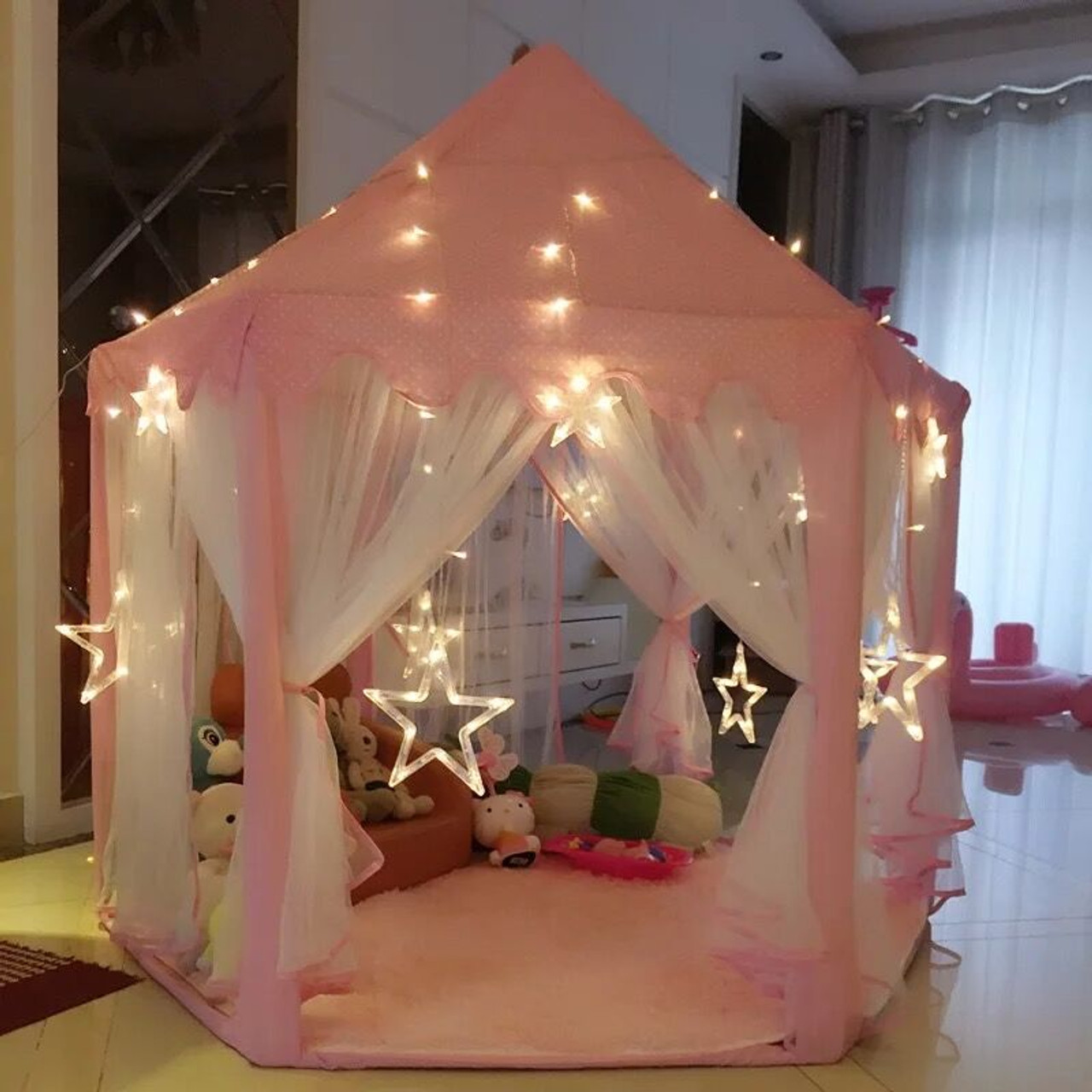 buy popular 16091 a0fec Indoor Tipi Children's Toy Tents for Kids Game Castle Play Tent House  Wigwam Room Toys for 0-14 Years Baby