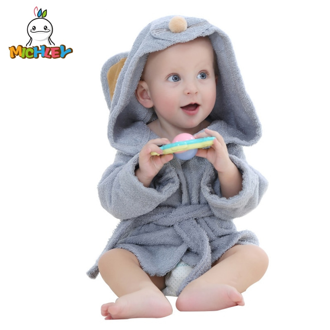 Michley Fashion Designs Hooded Animal Modeling Baby Bathrobe Cartoon Babies Character Kids Bath Robes Infant Beach Towels Ye0001 Onshopdeals Com