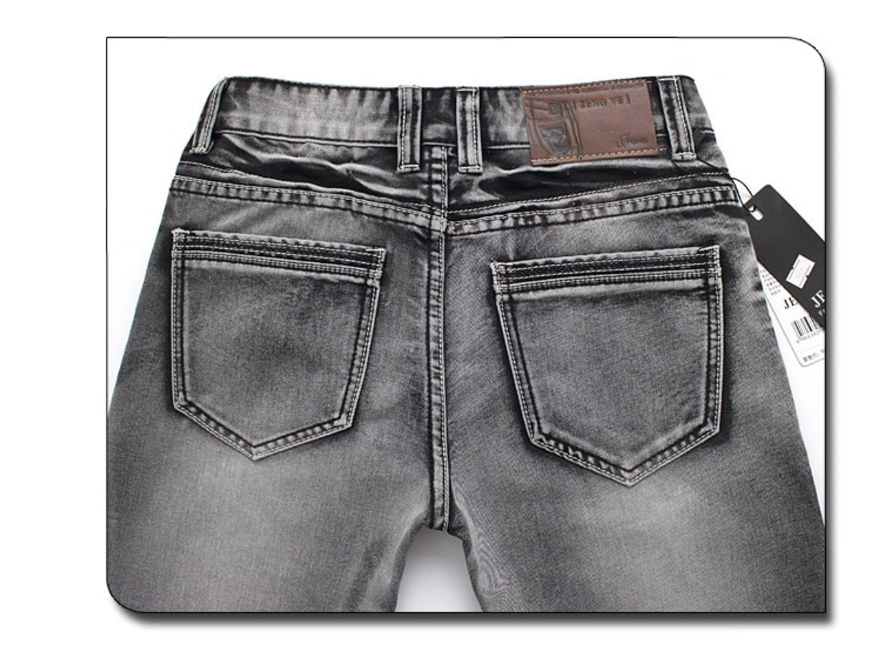 a55ec6828b6 ... AIRGRACIAS Mens Jeans Classic Retro Nostalgia Straight Denim Jeans Men  Plus Size 28-38 Men ...