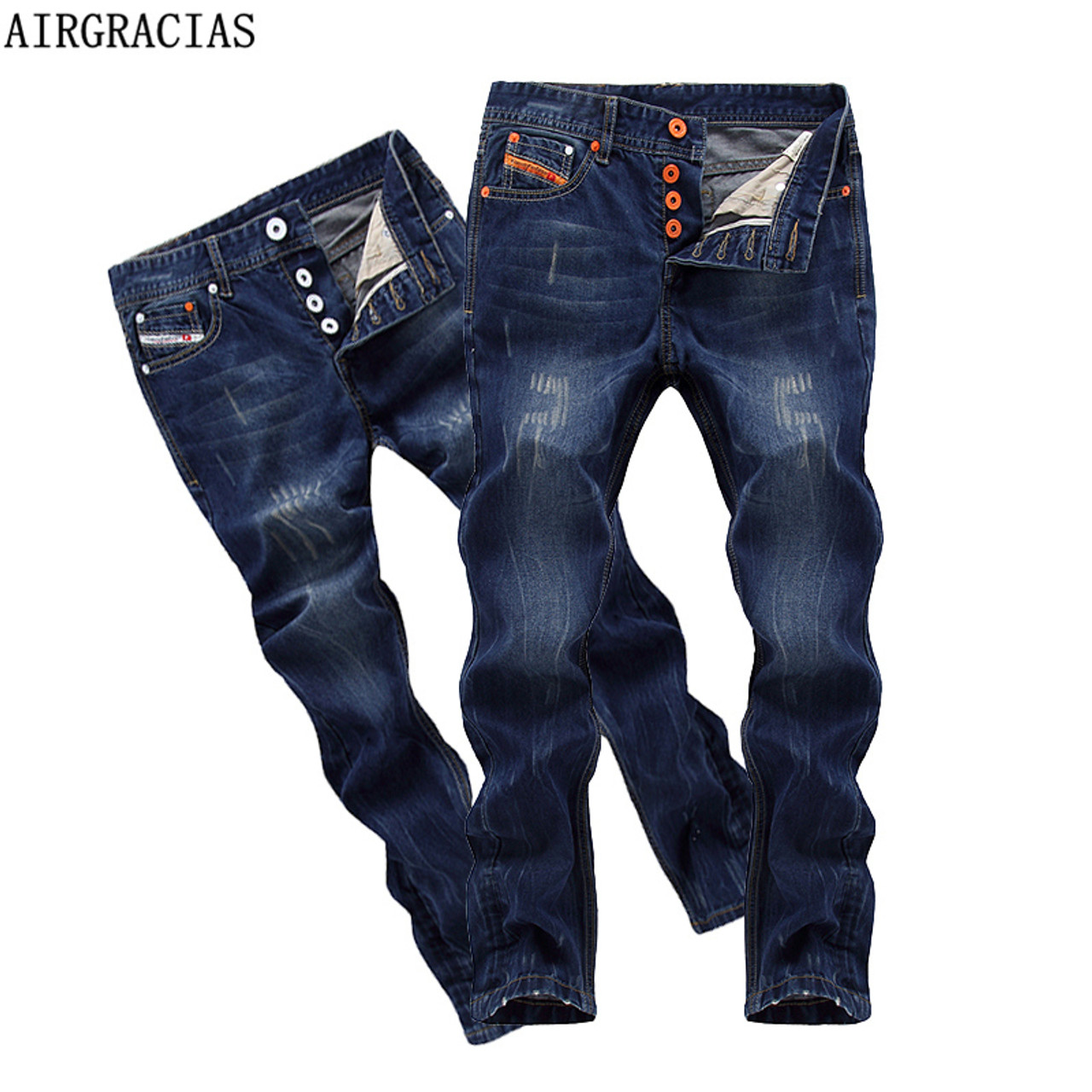 0ac98e5f4e113a AIRGRACIAS Brand High Quality Style Brand Mens Jeans Dark Color Cotton  Ripped Jeans For Men Fashion Designer Biker Jean - OnshopDeals.Com