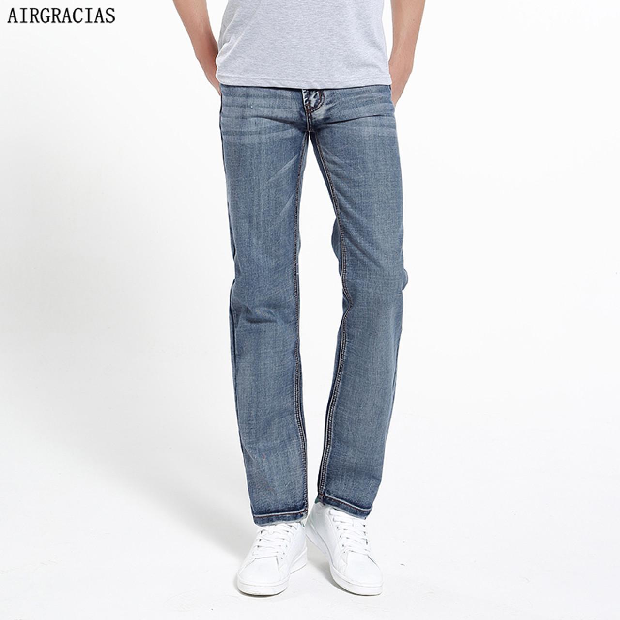 50ed776a9bd AIRGRACIAS Brand Jeans Retro Nostalgia Straight Denim Jeans Men Plus Size 28-38  Men Long Pants Trousers Classic Biker Jean - OnshopDeals.Com