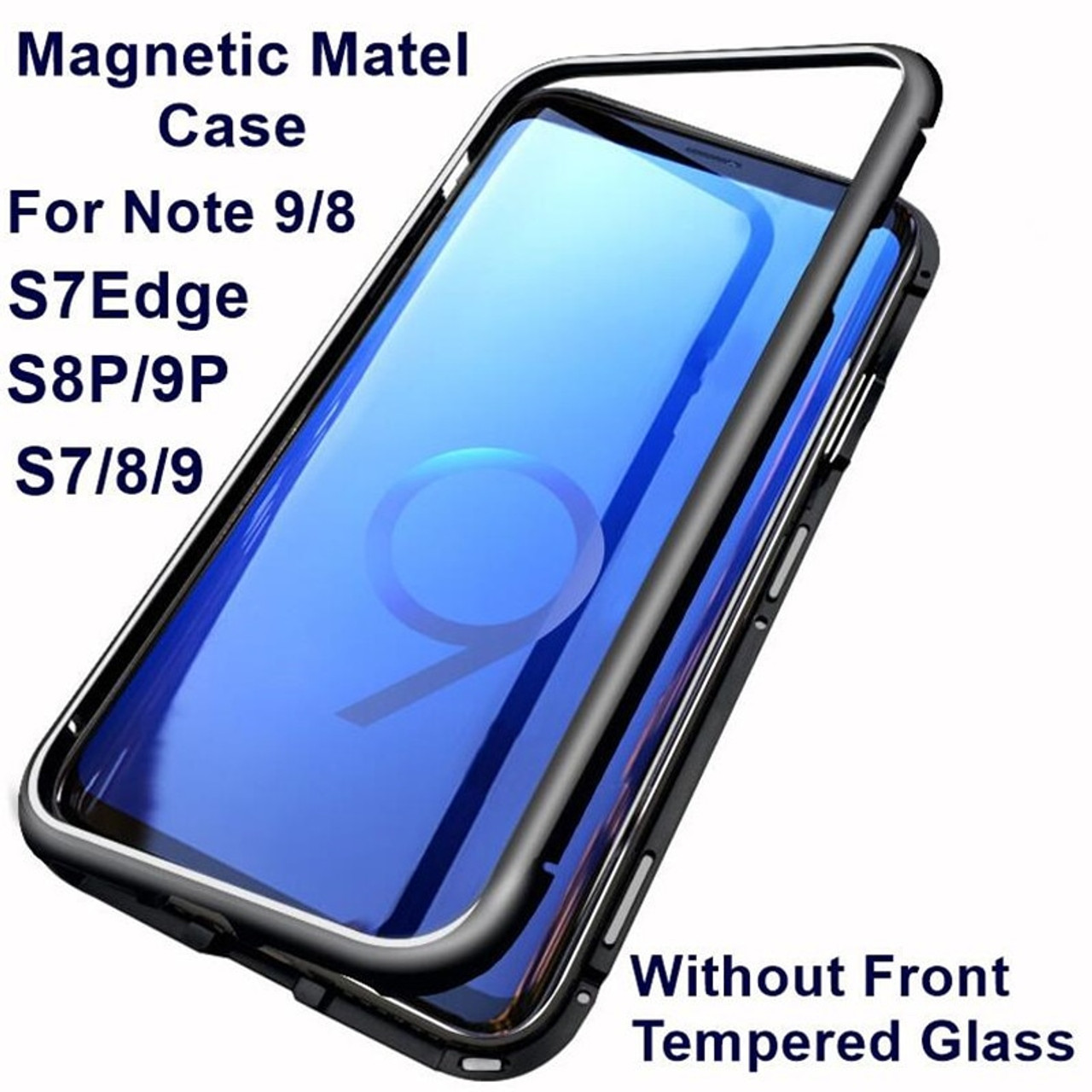 96a803aec Magnetic Adsorption Phone Case For Samsung Galaxy S9 S8 Plus Note 9 8 Metal  Magnet Screen ...