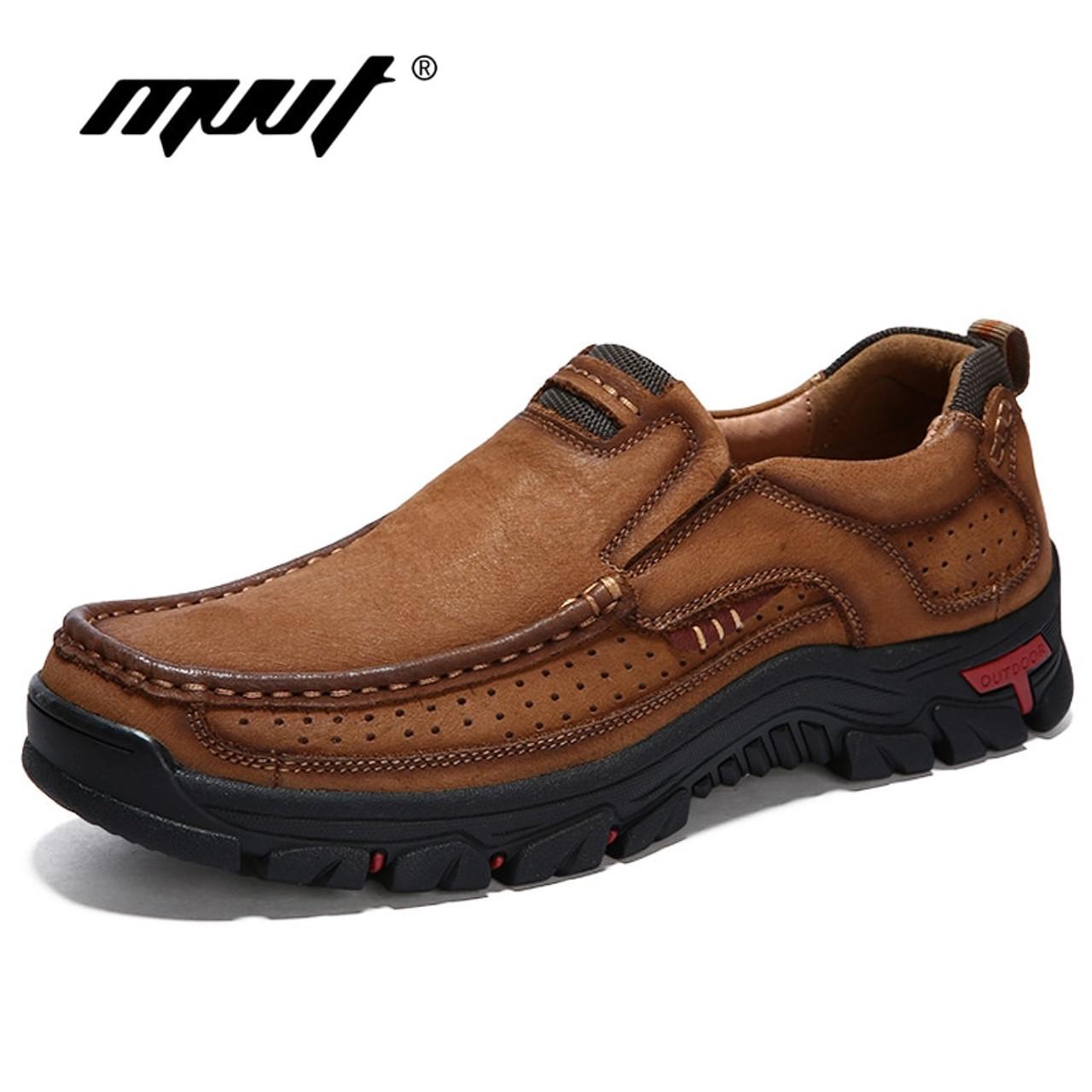 MVVT 100% Genuine Leather Shoes Men Cow