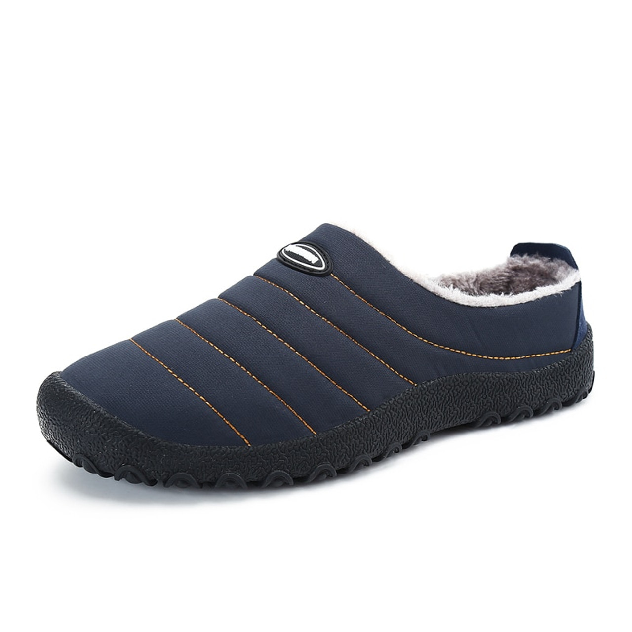 b14ed46fcd57 Christmas Winter Men Shoes Warm Plush Home Slippers Men Flip Flops Indoor Slippers  Waterproof Outdoor Shoes ...