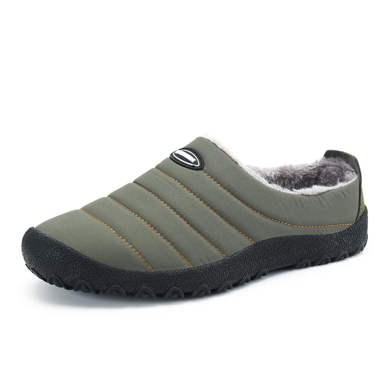 b6cb39710e44 ... Christmas Winter Men Shoes Warm Plush Home Slippers Men Flip Flops  Indoor Slippers Waterproof Outdoor Shoes ...