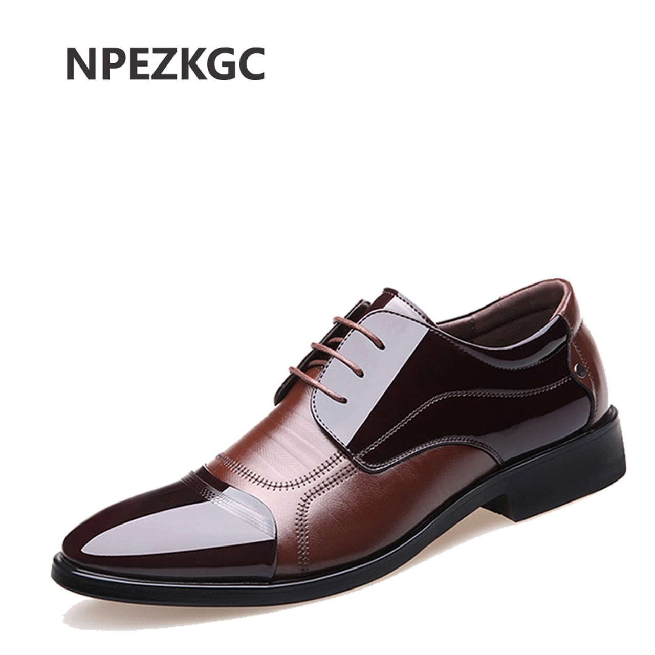 122c19e52eca NPEZKGC Fashion Genuine Leather Men Oxford Shoes