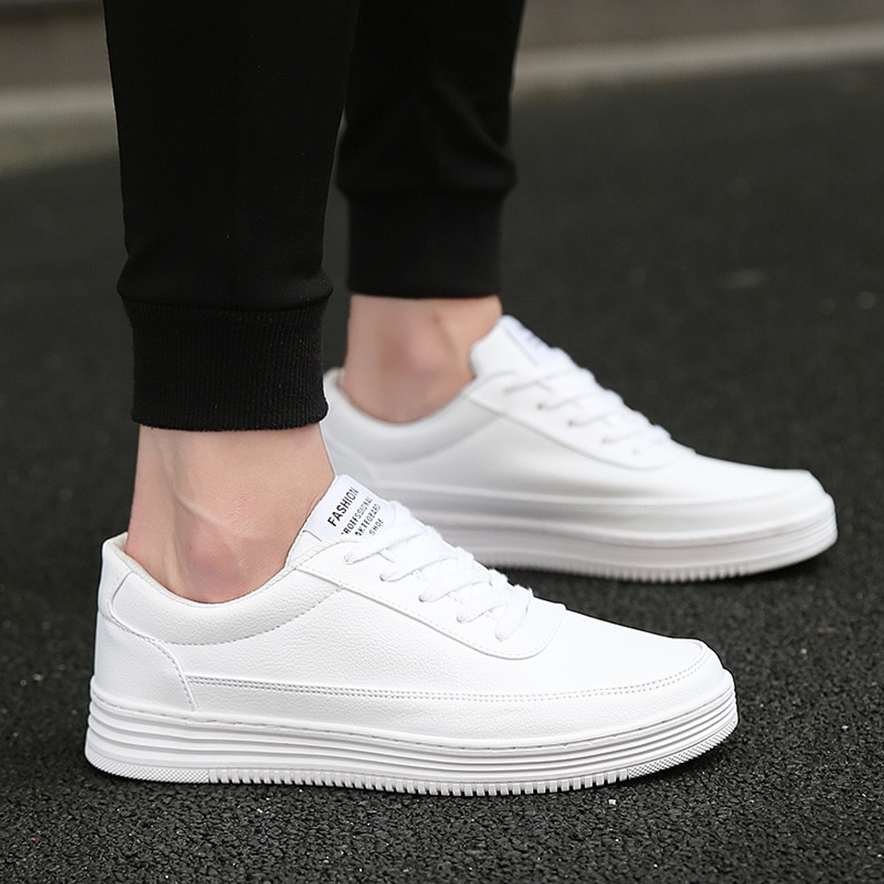 Men Vulcanized Shoes Simple Round Toe