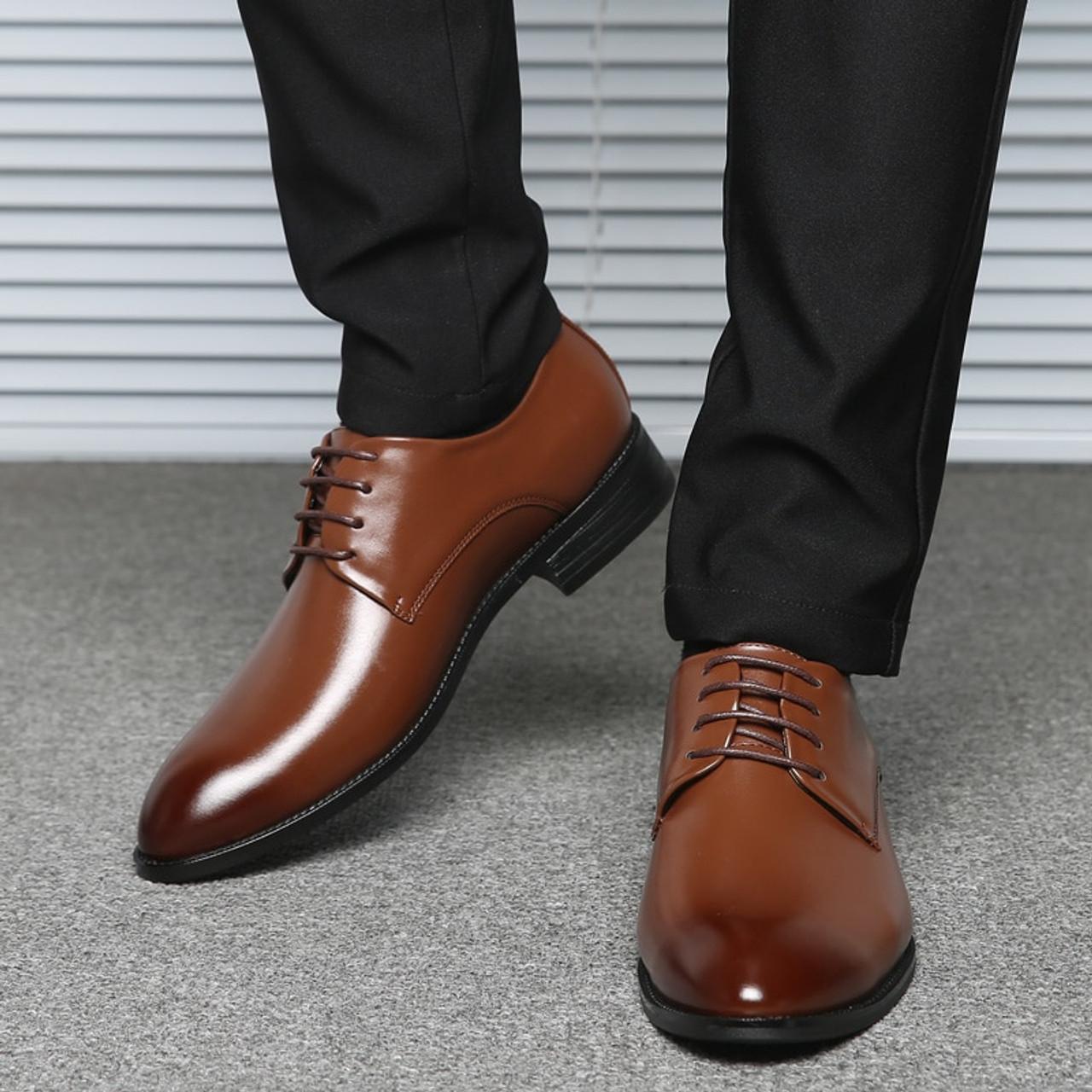 Dxkzmcm Men Dress Shoes Men Formal Shoes Leather Luxury Wedding Shoes Men Oxford Shoes Big Size Onshopdeals Com