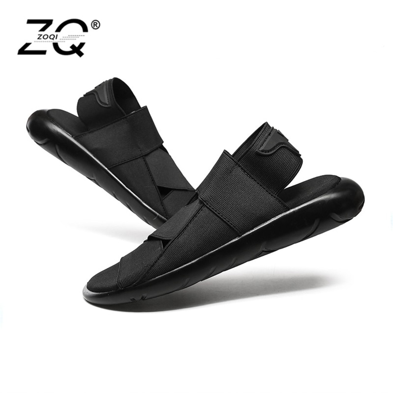 4117c67fddb101 ZOQI New Fashion Summer Beach Breathable Men Sandals Genuine Leather Men s  Sandal Man Causal Shoes ...