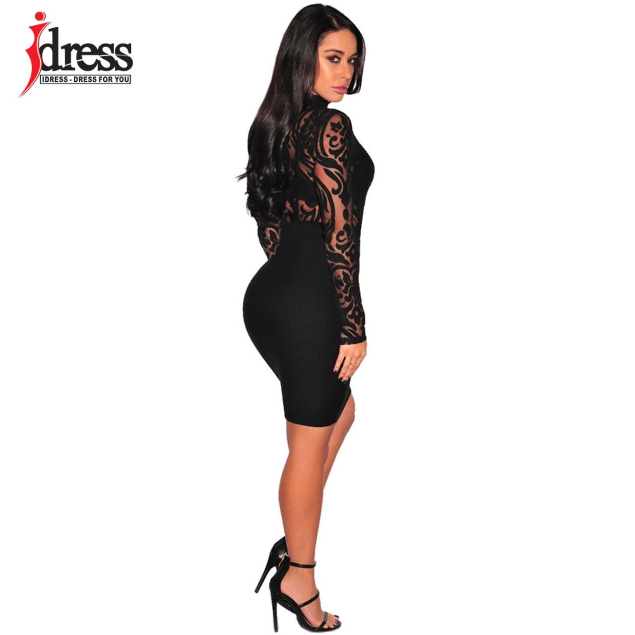 ... IDress Hot Bodies See Through Sexy Bodysuit Women Rompers Bodycon  Jumpsuit Transparent Bodysuits Women Long Sleeve ... 2929679d0