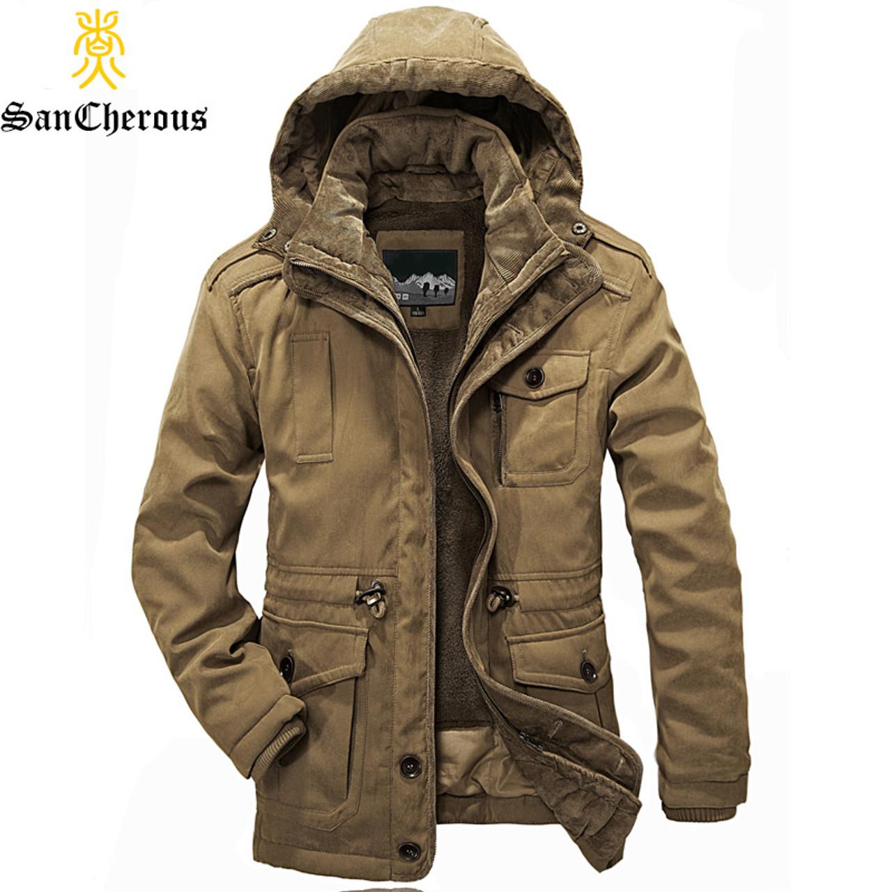 ef3b4baa56b 2017 New Arrival Top Quality Men Warm Parkas Heavy Wool Men Winter Jacket  Men 2 in ...