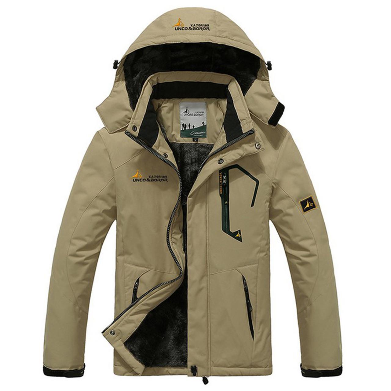 d98332e77802 ... New Winter Jacket Men Thick Velvet Warm Coat Thermal Warm Windproof  Hood Jackets Mens Outwear Parka ...