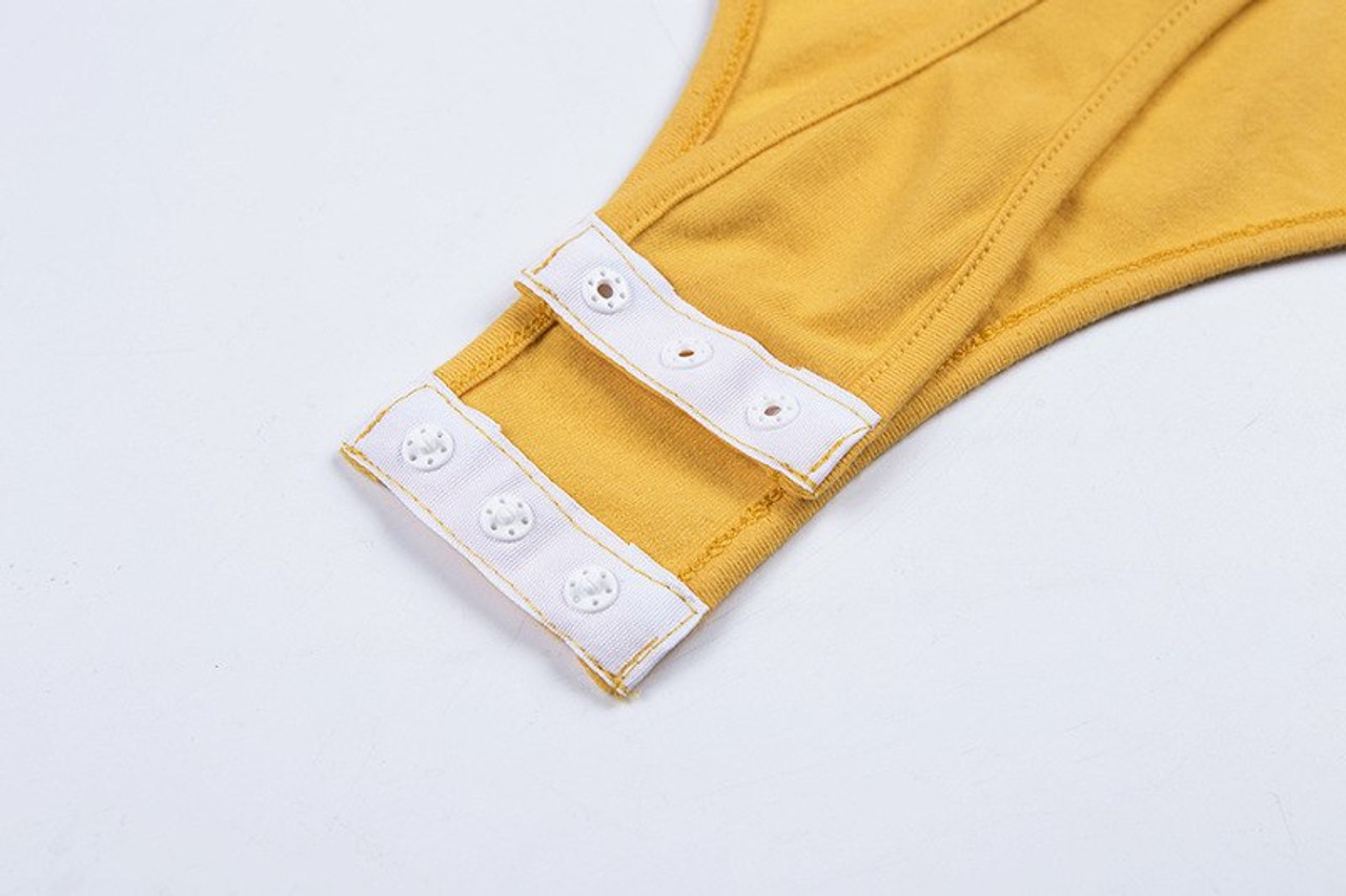3cec96d996 ... Cryptographic Fashion cotton sexy bodysuit women yellow sleeveless  female body suit summer jumpsuit rompers 2018 bodysuits ...