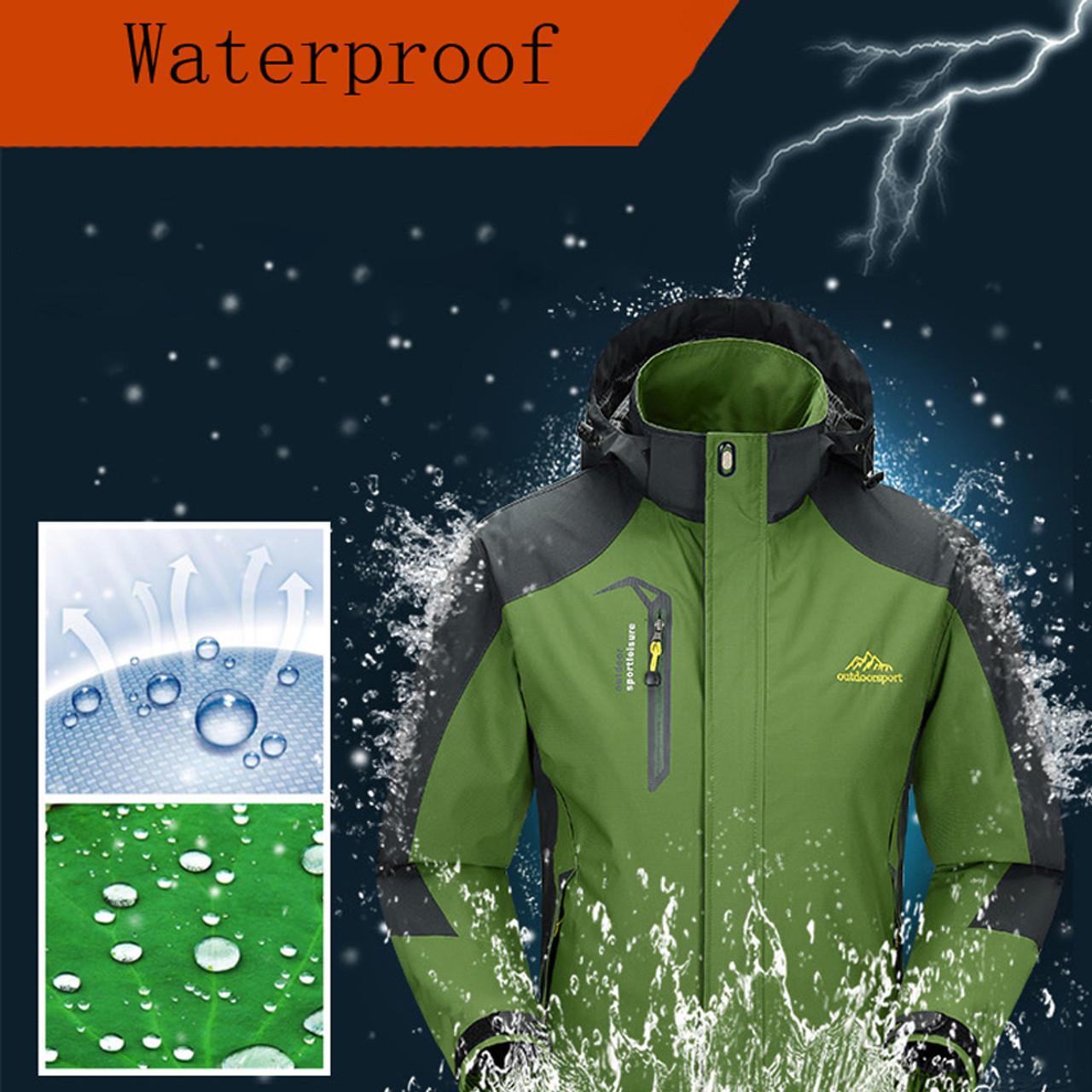 8ac3048f66e ... Mountainskin 5XL Men s Jackets Waterproof Spring Hooded Coats Men Women Outerwear  Army Solid Casual Brand Male ...