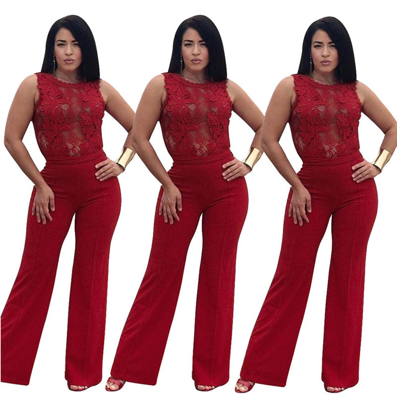 710de1fae7d ... Womens Rompers Jumpsuit Plus Size Jumpsuits For Women 2018 Summer  Overalls For Women Elegant Lace Body ...