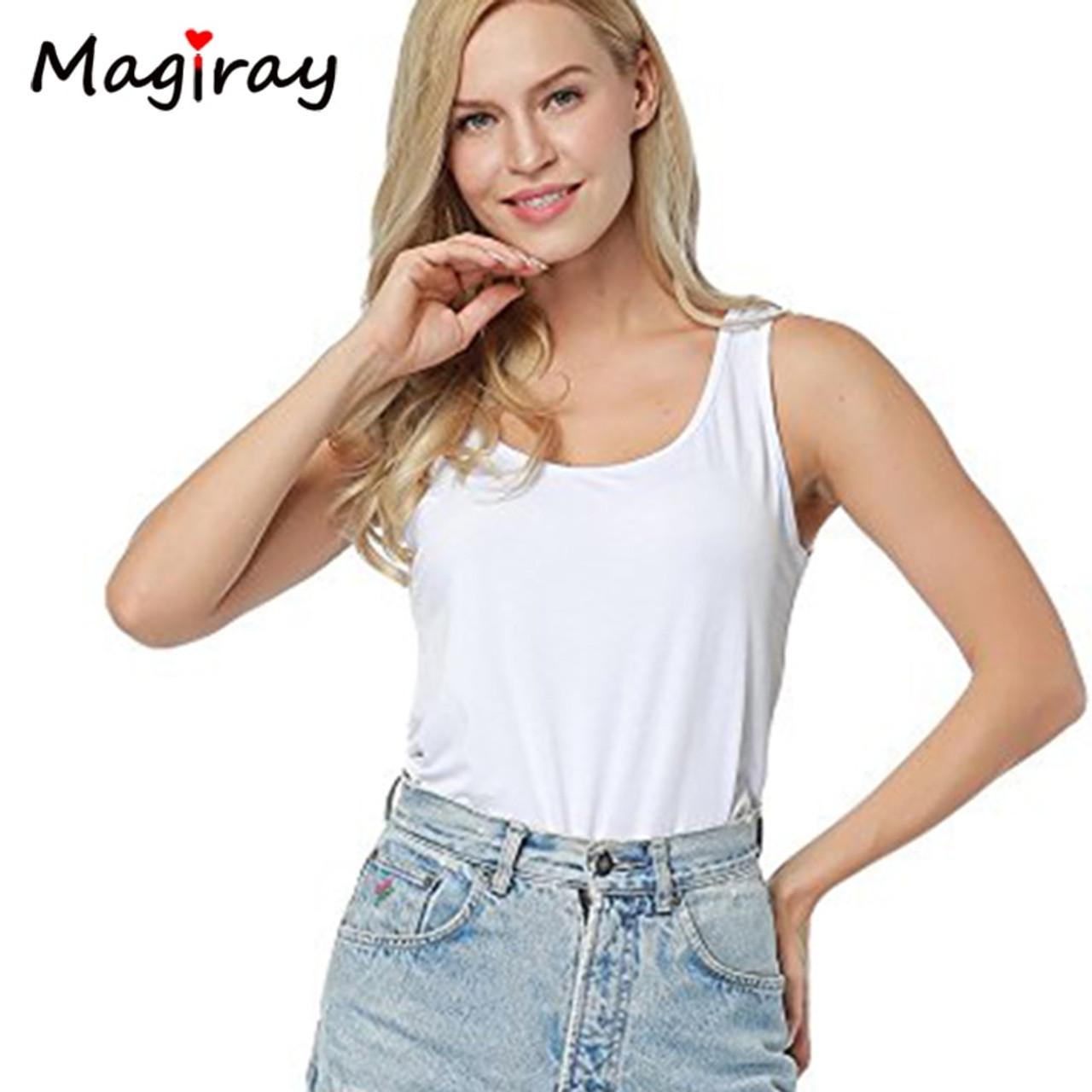 d222b0be4892 ... Magiray Scrop Neck Plain Tank Bodysuit Women 2019 New Sexy Body Top  White Sleeveless U- ...
