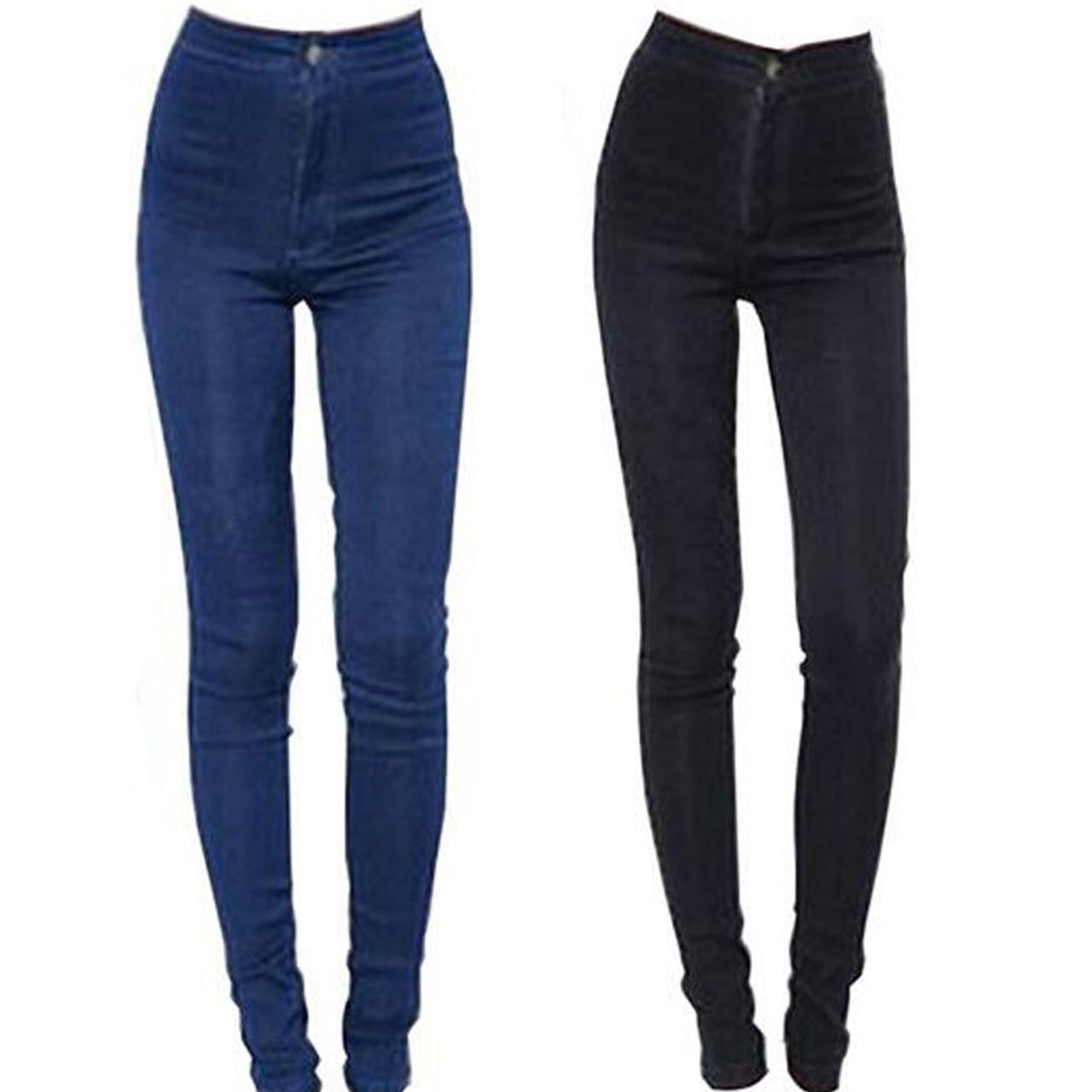 a7028c4f3b3 ... 2018 New Fashion Jeans Women Pencil Pants High Waist Jeans Sexy Slim  Elastic Skinny Pants Trousers ...