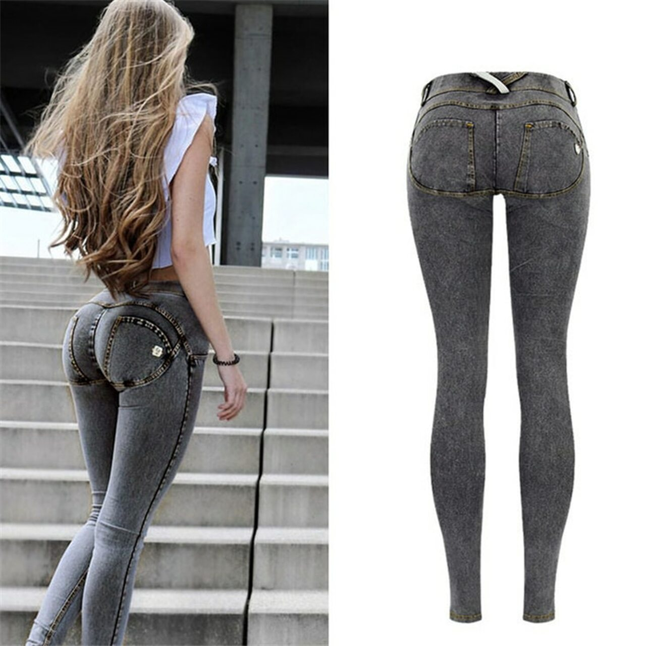 c46f39d58 Sexy Low Waist Jeans Woman Peach Push Up Hip Skinny Denim Pant For Women  Boyfriend Jean For Women Elastic grey Jeans Plus Size - OnshopDeals.Com