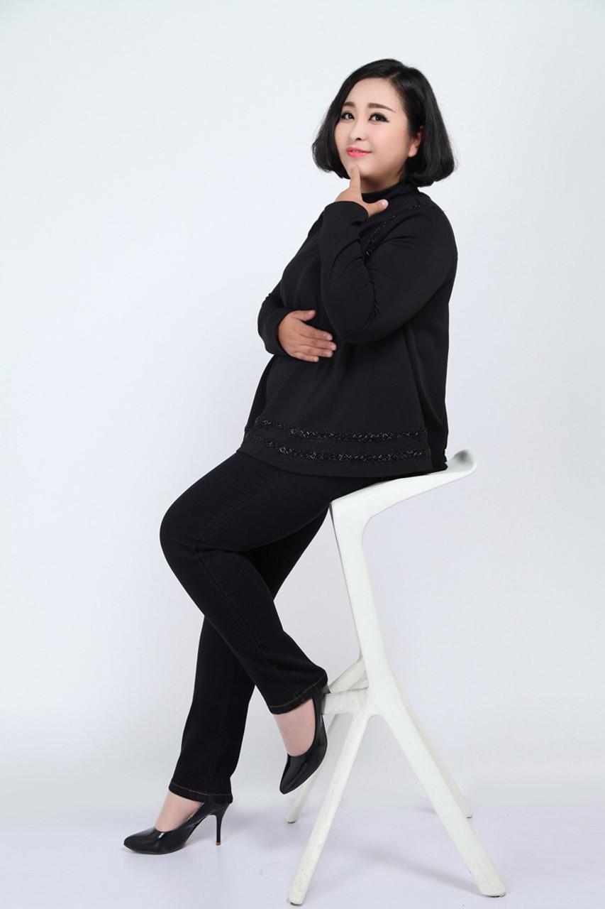 ec3b5ed9e7fad ... TUHAO High Waist Femme Jeans Plus Size 7XL 6XL 5XL 4XL pencil pants  2018 spring casual ...
