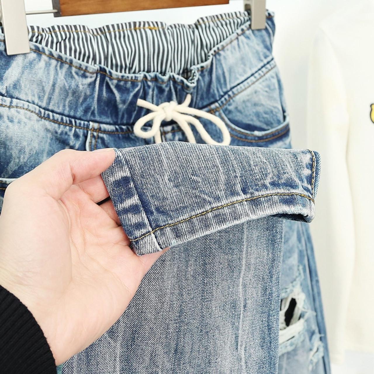 Summer Ripped Boyfriend Jeans For Women Fashion Loose Vintage High Waist Jeans Plus Size Jeans 5xl Pantalones Mujer Vaqueros Q58 Onshopdeals Com