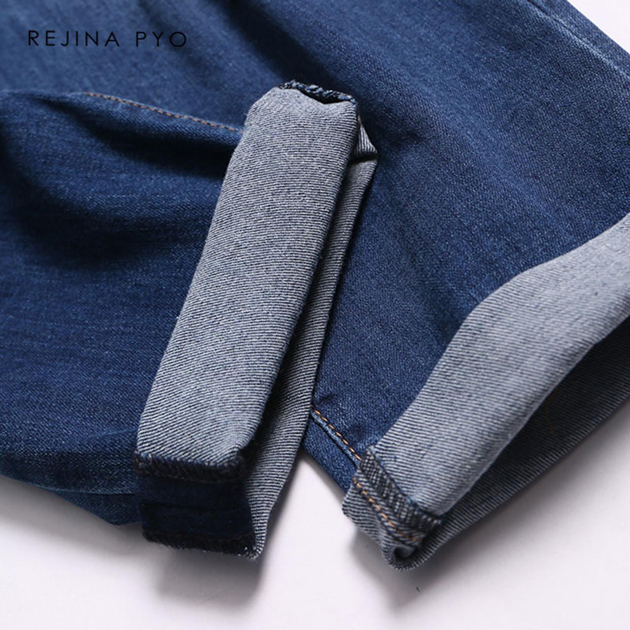 d226e99baad6a ... REJINAPYO Women Fashion Elegant Plus Size Vintage Jeans Women Scratched  Holes Oversized Denim Loose Jeans Ladies ...