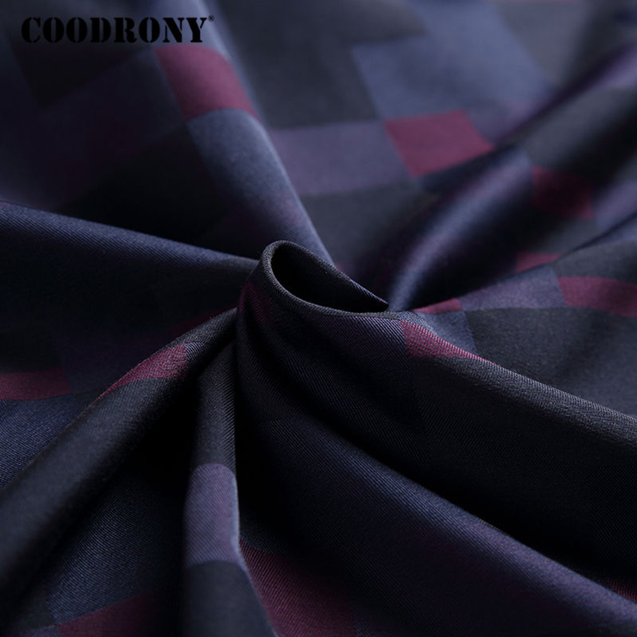 df6156b1030 ... COODRONY Men Shirt Mens Business Casual Shirts 2017 New Arrival Men  Famous Brand Clothing Plaid Long ...