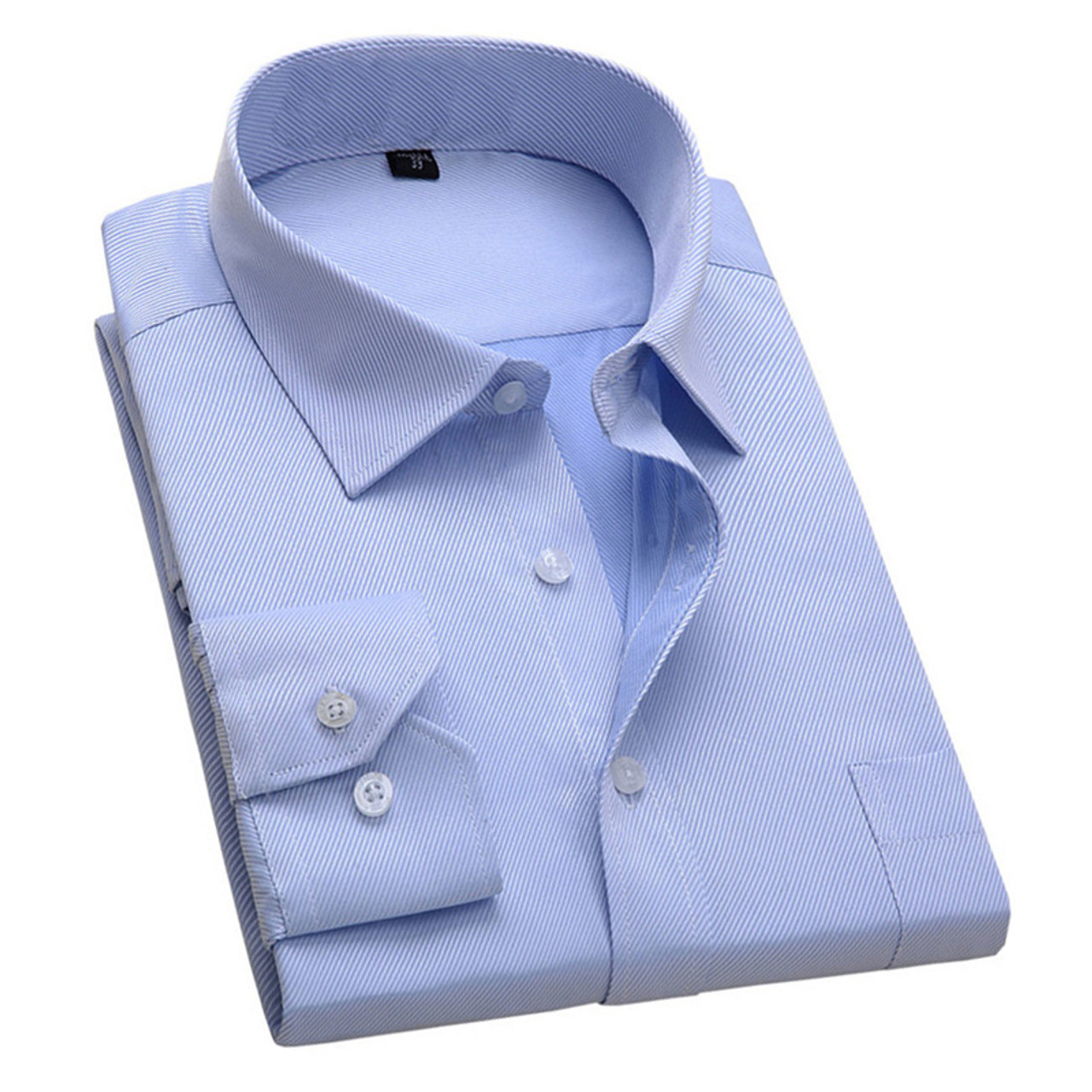 d592a9c1f00 2017 New Design Twill Cotton Pure Color White Business Formal Dress Shirts  Men Fashion Long Sleeve ...