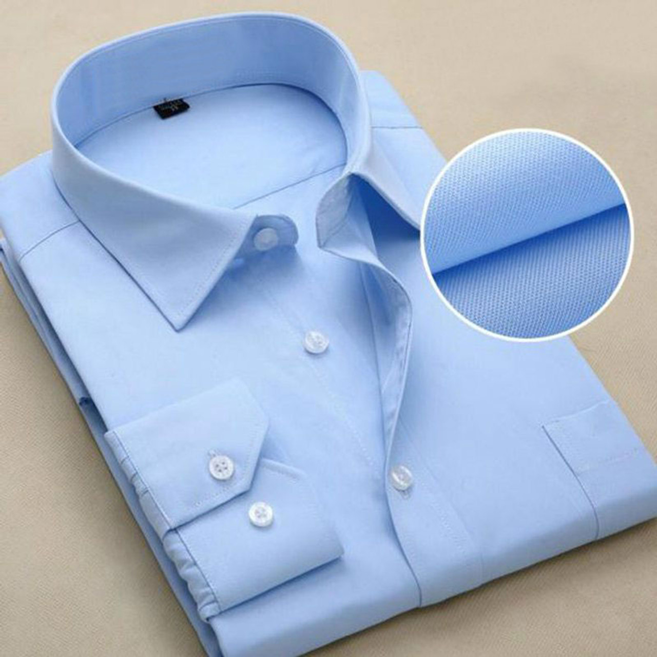 63dc8dcb81f ... 2017 New Design Twill Cotton Pure Color White Business Formal Dress  Shirts Men Fashion Long Sleeve ...