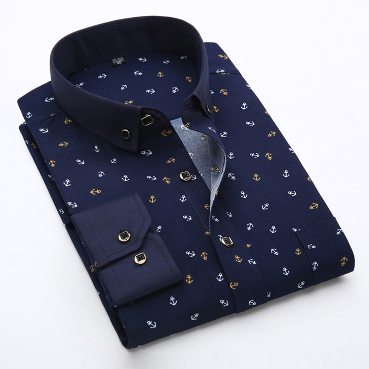 2699cbc2ca90 New 2018 Spring Men Casual Shirts Fashion Long Sleeve Brand Printed  Button-Up Formal Business ...