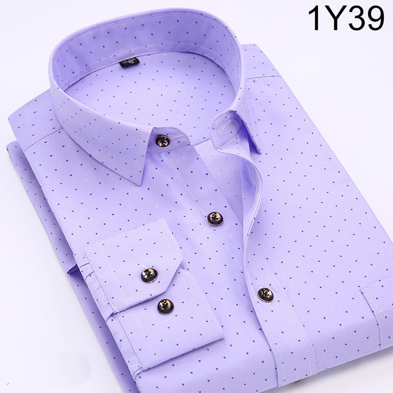 230fbbc3688 ... New 2018 Spring Men Casual Shirts Fashion Long Sleeve Brand Printed  Button-Up Formal Business ...