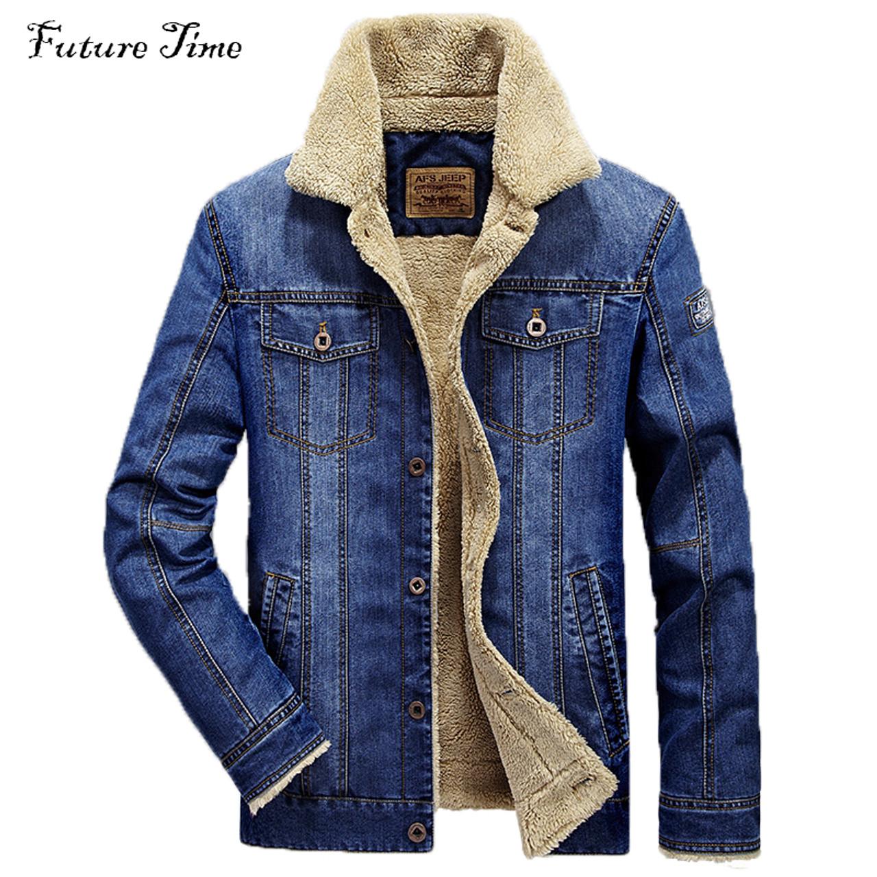2318c19aa5 M-4XL men jacket and coats brand clothing denim jacket Fashion mens jeans  jacket thick ...