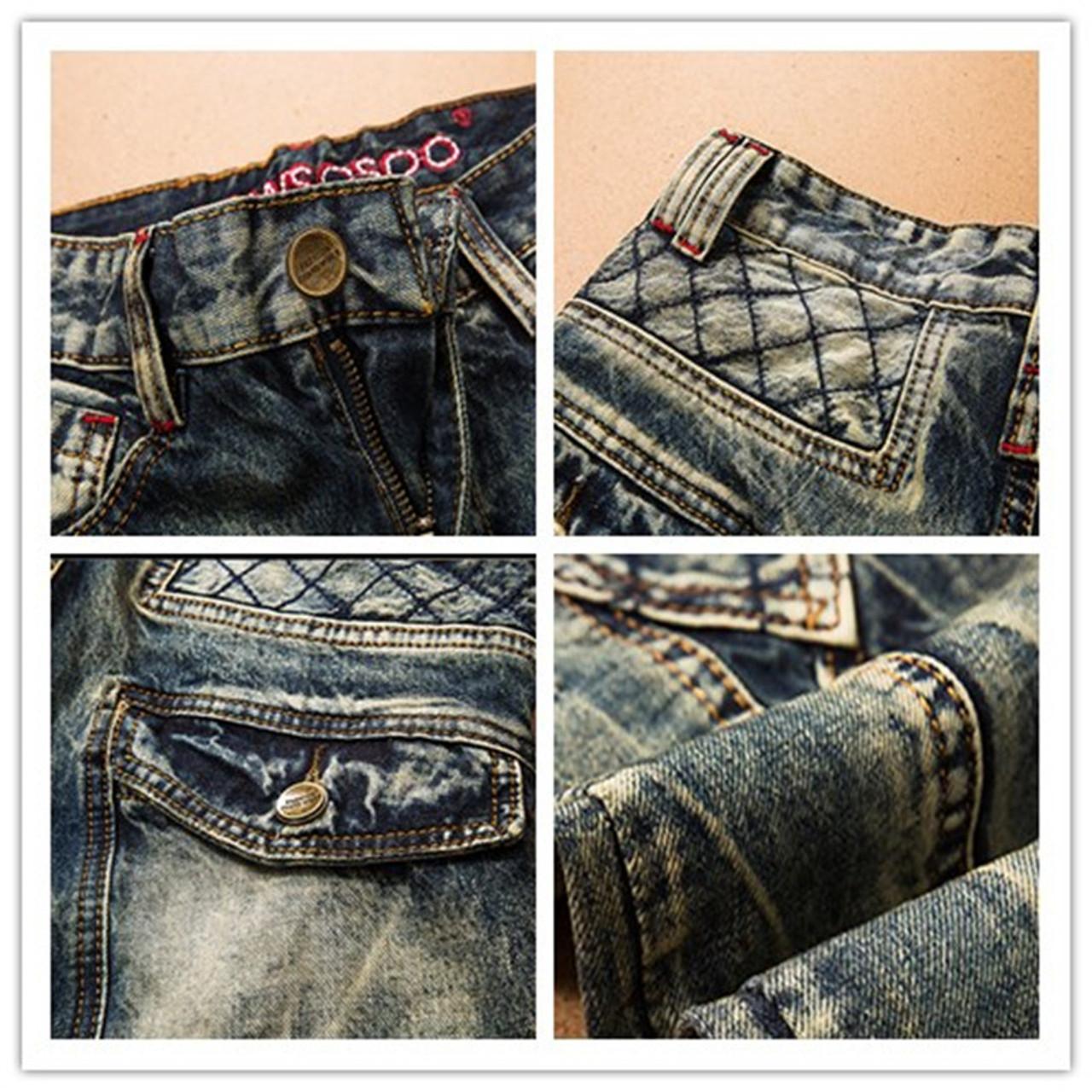 44732650 ... LetsKeep 2017 New patchwork Denim jeans for men biker skinny ripped  jeans punk mens plaid Designer ...