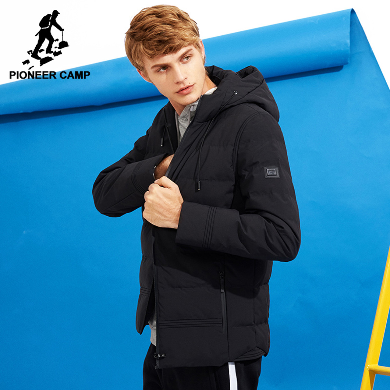 8ae168d081 Pioneer Camp new thick winter jacket men brand clothing hooded warm coat  male top quality black ...