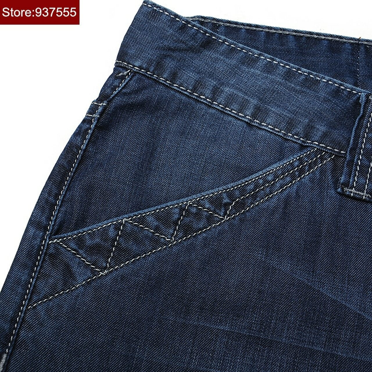 050b5dd59ac3e ... 2018 New Brand Short Jeans Men Summer Cotton Loose Jeans Shorts Casual  Straight Knee Length High ...