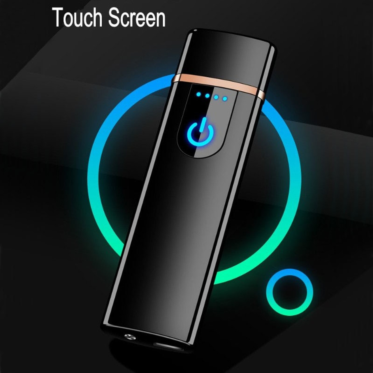Cigarette Accessories New Usb Charging Double Arc Lighter Plasma Eletronic Pulse Lighters Led Switch Smoking Accessories For Gift Men Weed Vaporizer